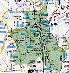 藤沢北東支部マップ