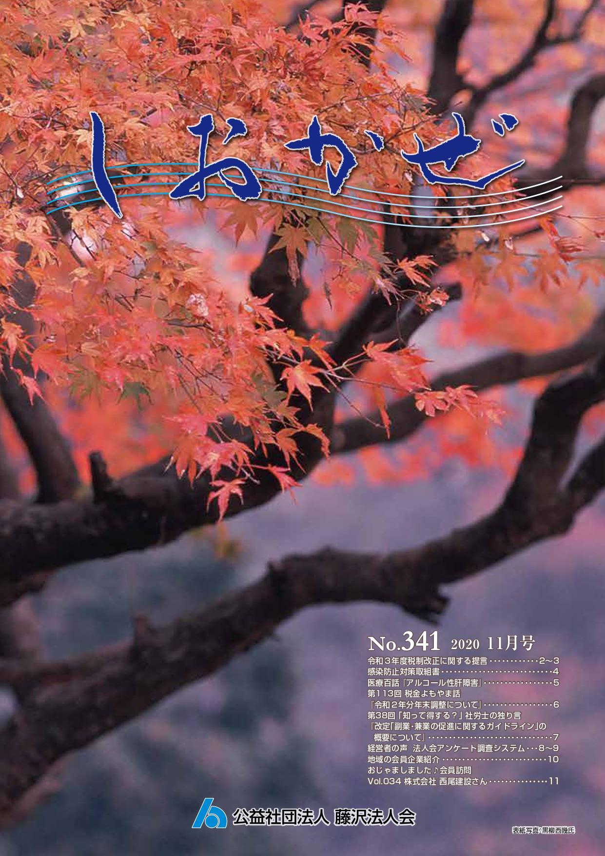 広報誌「しおかぜ」No,341(2020年11月号)